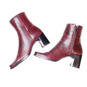 NWOB Nine West leather heeled boots sz 6.5